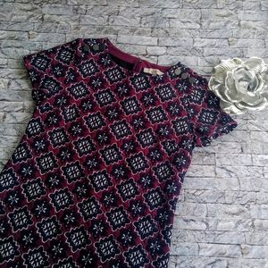 Ann Taylor LOFT Quilted Shift Dress Size 4